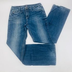 Cowgirl Up Womens Jeans 14 Blue Boot Cut Stretch